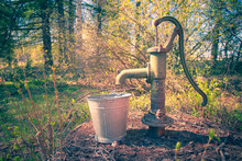 Photo Of Old Style Well Pump. Sotkamo, Finland.