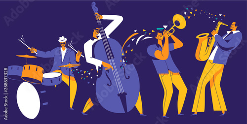 Jazz quartet Wallpaper Mural