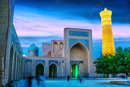 Tuinposter Dubai Po-i-Kalan or Poi Kalan complex in Bukhara, Uzbekistan
