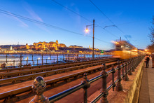 Twilight View Of Buda Castle A...