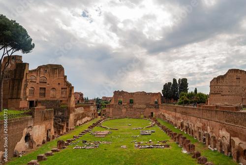 Valokuva  Palatine Stadium of Rome