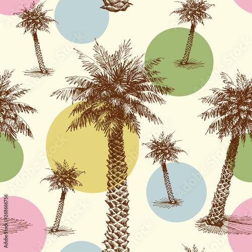 palmy-lub-wzor-drzewa-kokosowego