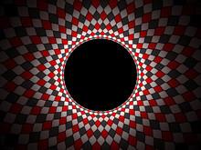 Background Full Color Harlequin Black White Red Torus 3d