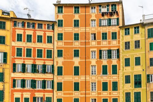 Poster Ligurie the village of Camogli on the peninsula of Portofino