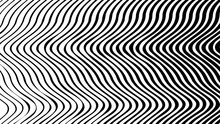 Optical Illusion. Abstract Lines Background. Geometric Black And White. Line Pattern. Eps10 Vector.