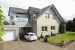 canvas print picture - Einfamilienhaus Haus zuhause Klinker modern