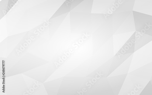 Fototapety, obrazy: White abstract background. Lowpoly backdrop. Crumpled paper. 3D illustration