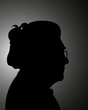 silhouette of a grand mother