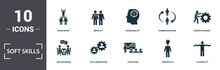 Soft Skills Icons Set Collecti...