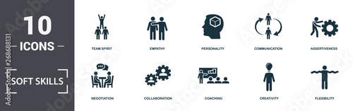 Photo Soft Skills icons set collection