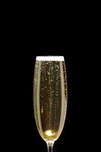 Bubbles In A Glass Of Champagn...