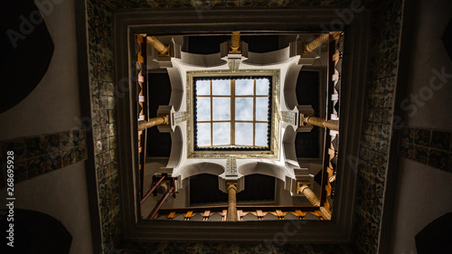 The ceiling window Inside of a old house in Casbah, Algiers, Algeria Fototapet