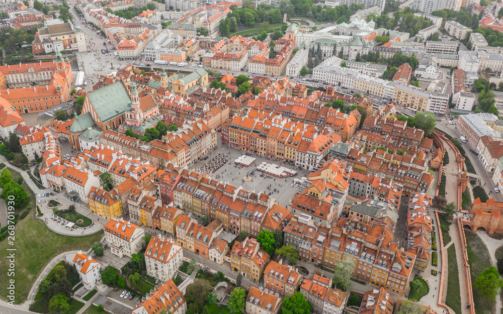 Fototapety, obrazy: Aerial view of Warsaw