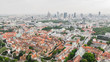 canvas print picture - Aerial view of Warsaw