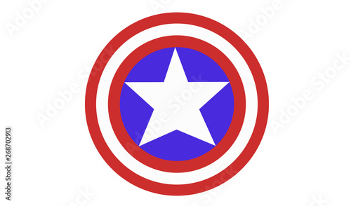 Fényképezés Captain America Shield Vector illustration EPS10