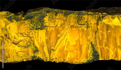 the orpiment (auripigment, yellow arsenic; yellow ratebane) Canvas Print