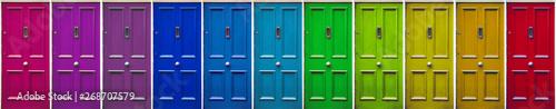 Fotomural  Colorful doors