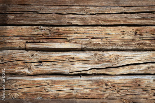 The old wood texture with natural patterns - 268708512