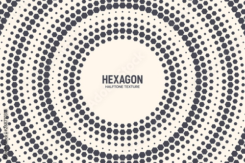 Carta da parati Hexagon Shapes Vector Abstract Geometric Technology Background