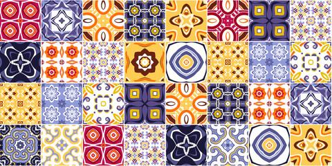 Tradycyjne portugalskie ozdobne płytki dekoracyjne azulejos. wektor