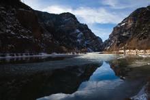 Reflection Of Colorado River Near Hanging Lake