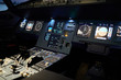 Night illumination of flight deck with radar devices and displays with flight control system on control panel