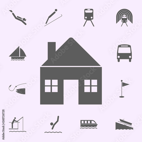 place of the house icon  signs of pins icons universal set