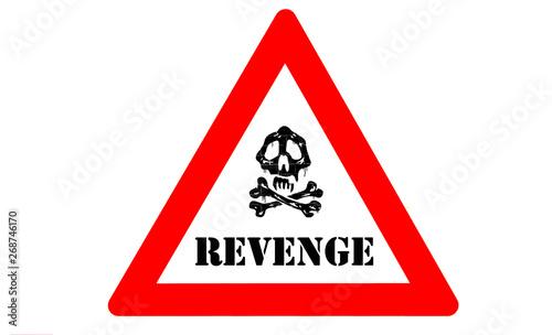 Revenge warning Canvas Print