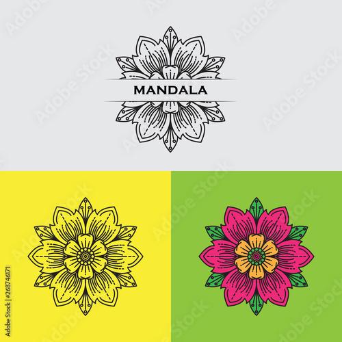Fotografia Set of colorful mandalas