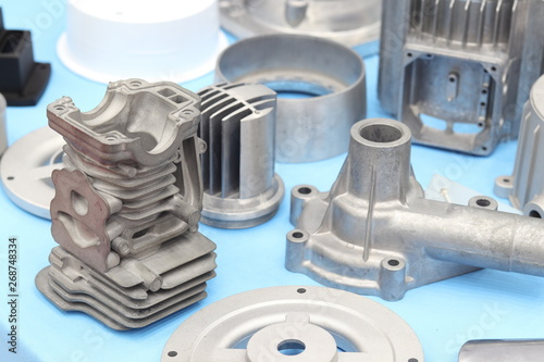 as cast  aluminium high pressure die casting part for automotive and electrical Fotobehang