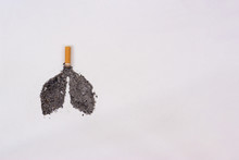 Lungs Made Of Ash And Cigarett...