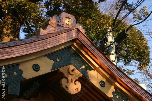 Fotografie, Obraz  新しく建てられた手水舎