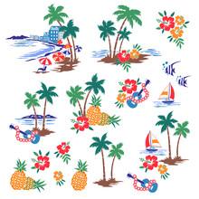 I Made Hawaiian Shore Scenery An Illustration,