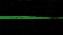 Thin Green Line Flag With Grunge Paint Trace - A Sign To Honor And Respect Border Patrol, Park Rangers And Federal Agents.