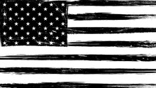 Vintage Grunge USA Black And White Flag