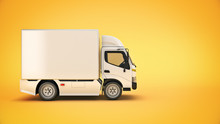 White Delivery Truck. 3d Rende...