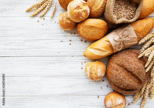 Door stickers Bread Assortment of baked bread