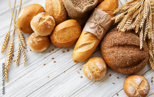 Foto op Plexiglas Bakkerij Assortment of baked bread