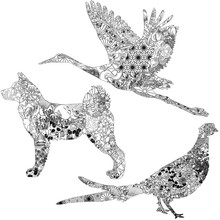 Akita, Green Pheasant And Cran...