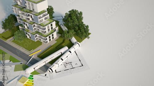 Fotografie, Obraz Sustainable building mock up