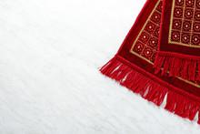 Muslim Prayer Rug On White Bac...