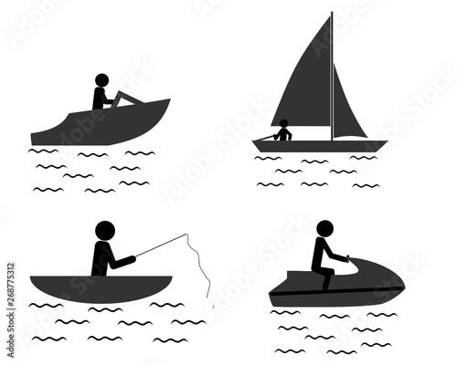 Fotomural  Freizeit auf dem Wasser verbringen