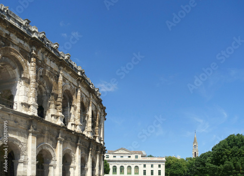 Photo  View at Arena of Nimes, Roman amphitheater in France
