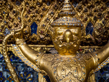 Garudas Holding Nagas In Wat Phra Keaw Or The Grand Palace