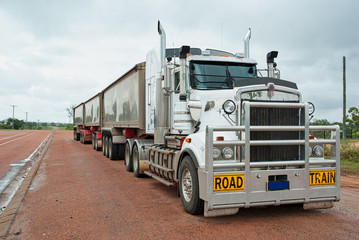 Road train used for long fr...