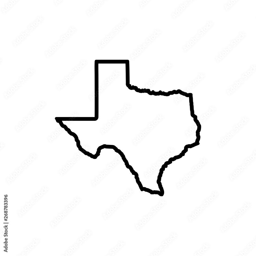 Fototapeta Texas Map Icon vector