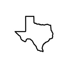 Texas Map Icon Vector