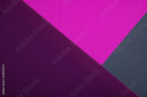 Abstract textured geometric paper purple, pink, grey and violet colors background. - 268783331