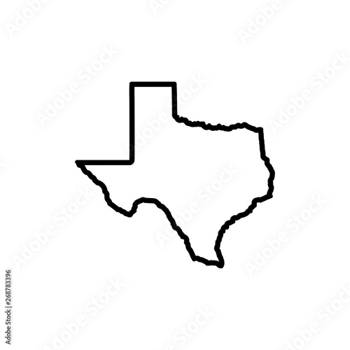 Texas Map Icon vector Wall mural