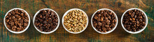 Panorama Banner With Assorted Roasted Coffee Beans